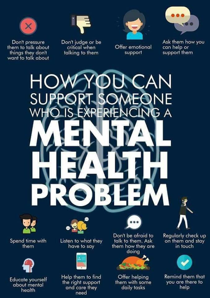How to support someone with mental health problems