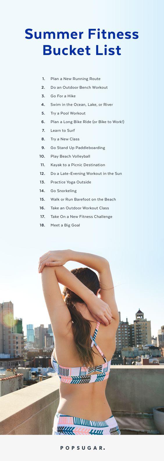 Summer Fitness Checklist