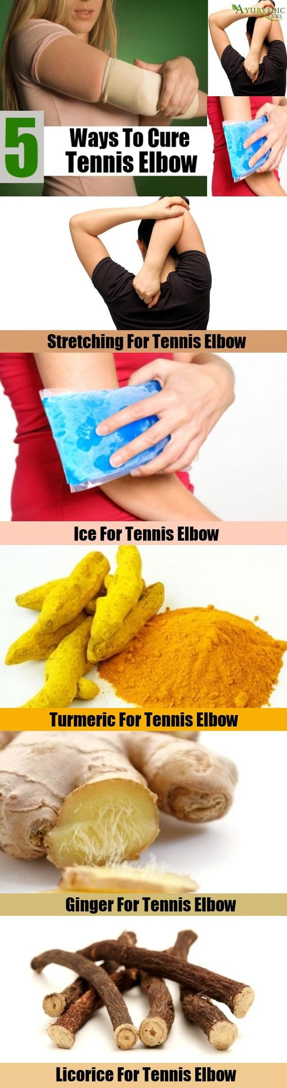 Ways to cure tennis elbow