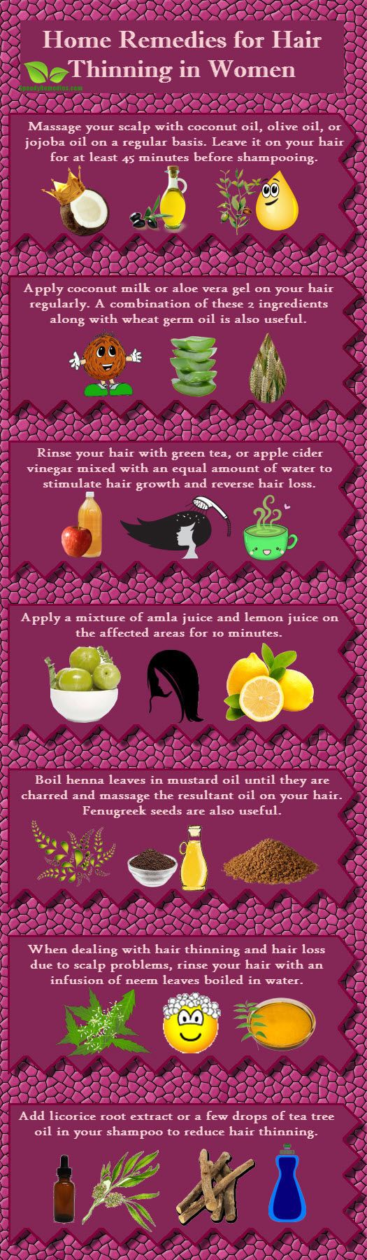 Home remedies for Hair thinning in Women