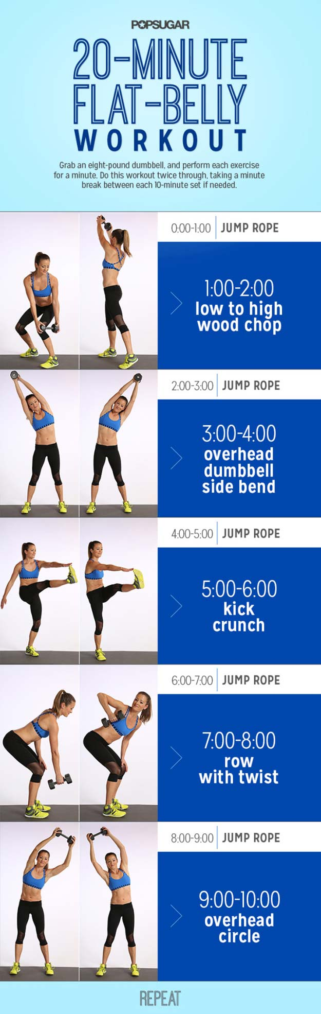 20 minutes Flat Belly Workout
