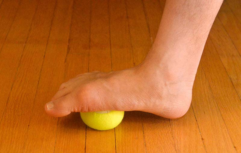 Heel Spur exercise with Tennis Ball