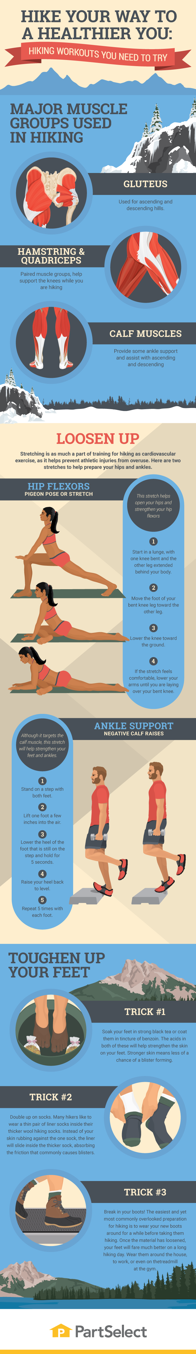 Hiking - Ways to Engage More Muscles