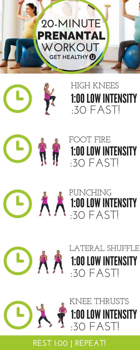 20 minutes prenatal workout