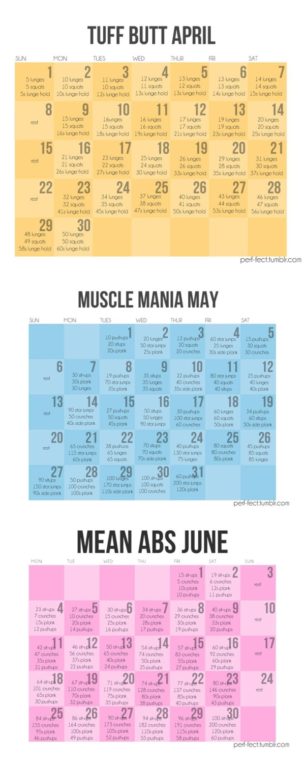 Spring Fitness April May June