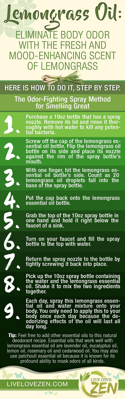 Lemongrass Essential Oil For Body ODOR