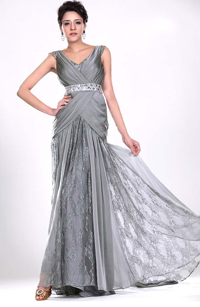 Silver Evening Gowns this Winter Season