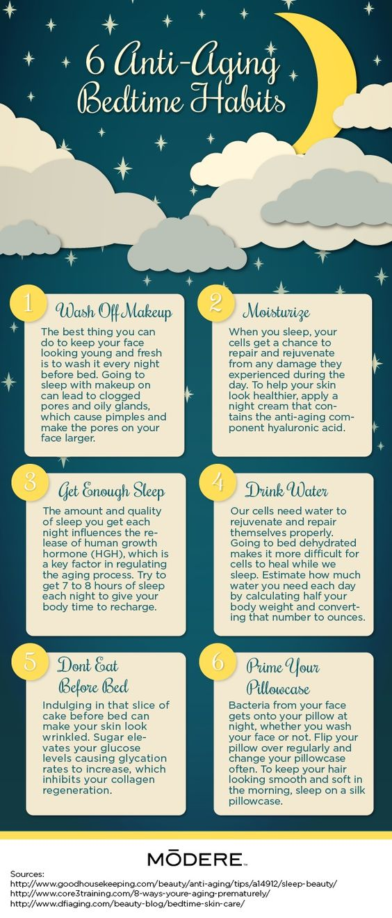 anti aging bedtime habits