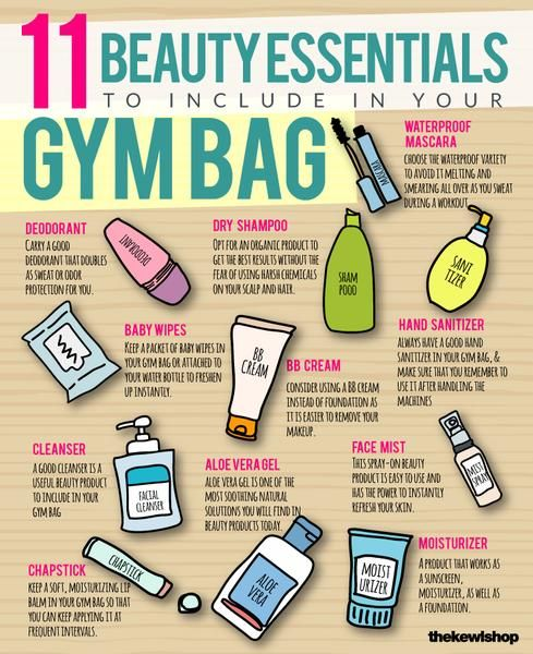 beauty essentials to include in your gym bag