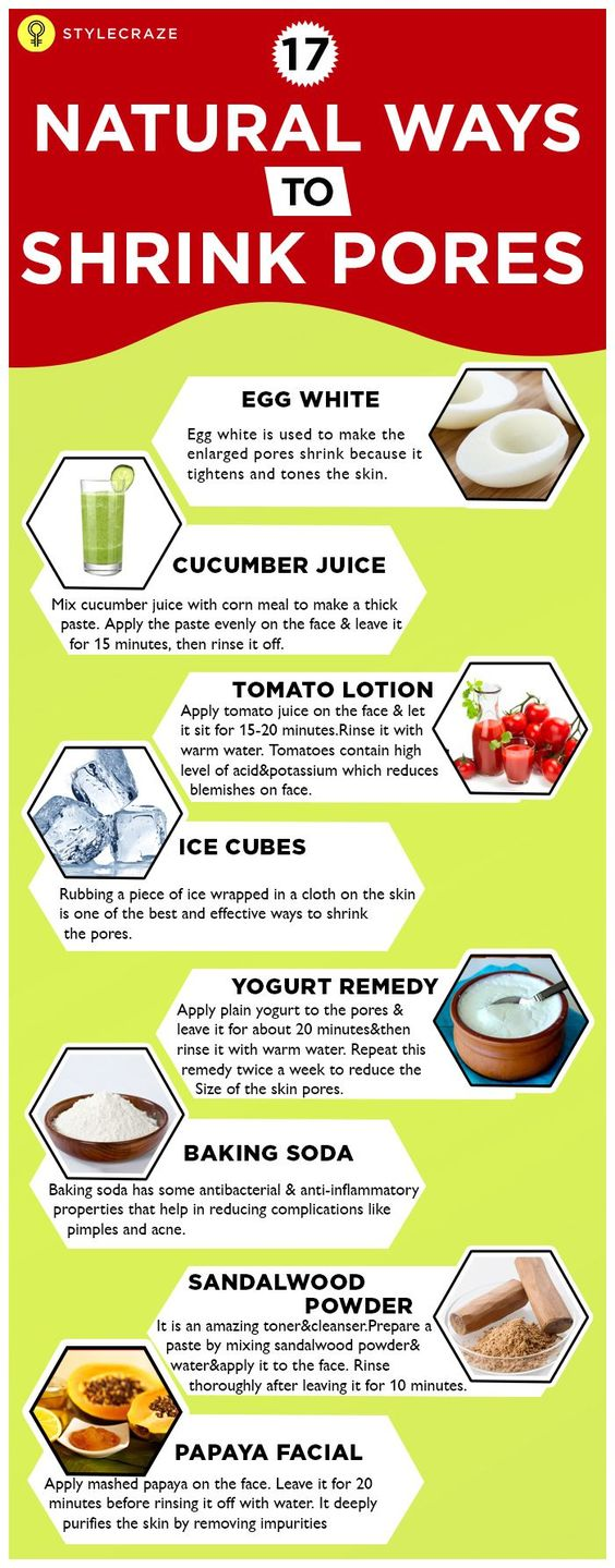 natural ways to shrink pores