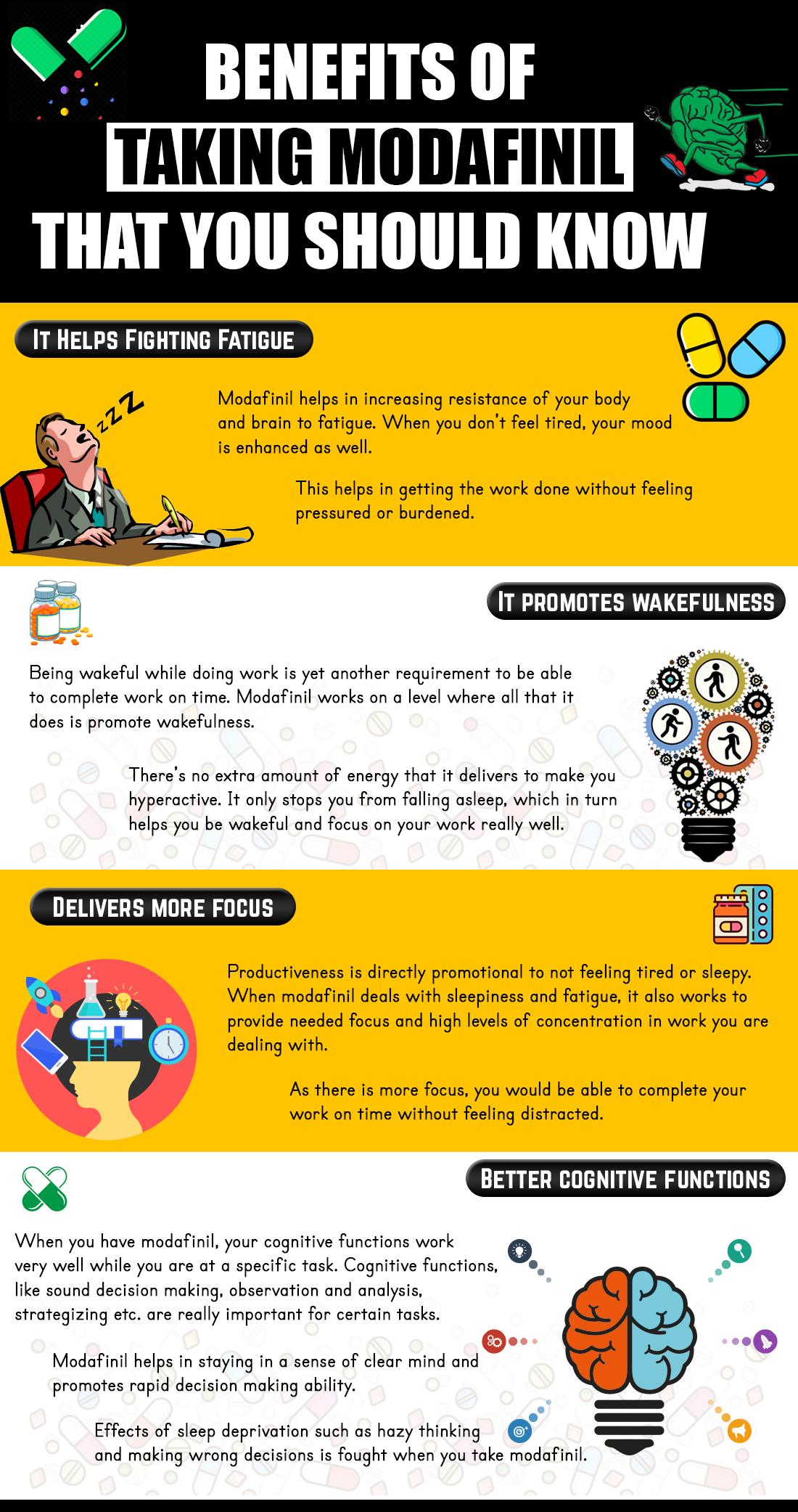 Benefits of taking modafinil