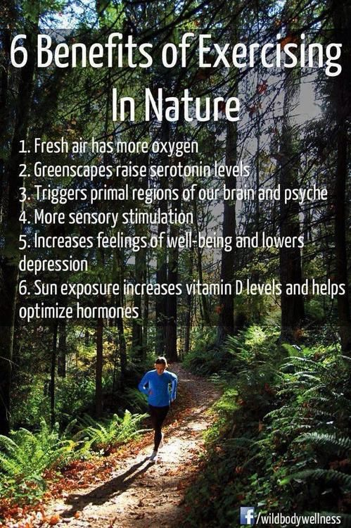 benefits of exercising in nature