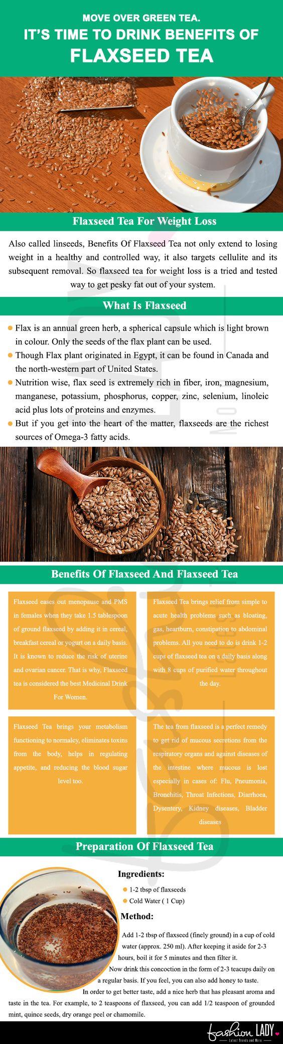 benefits of flaxseed tea