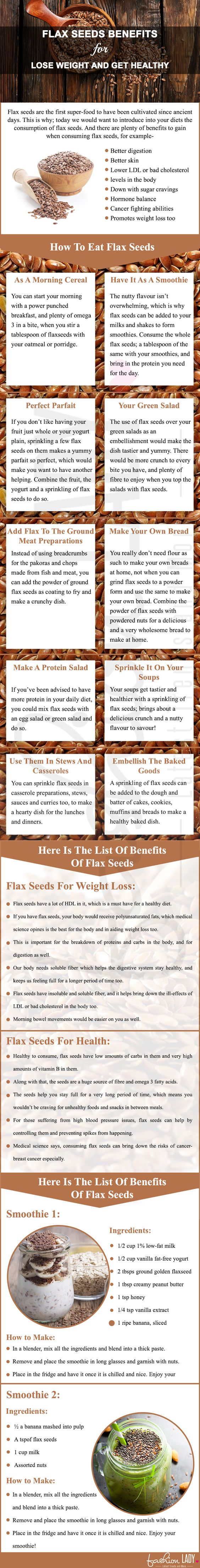 flax seeds benefits for lose weight and get healthy
