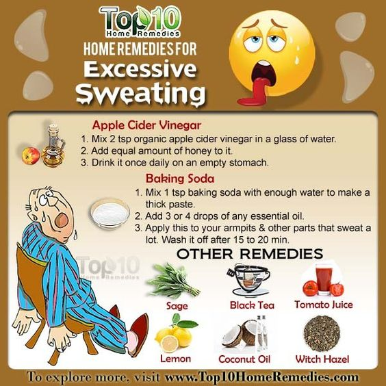 home remedies for excessive sweating 1