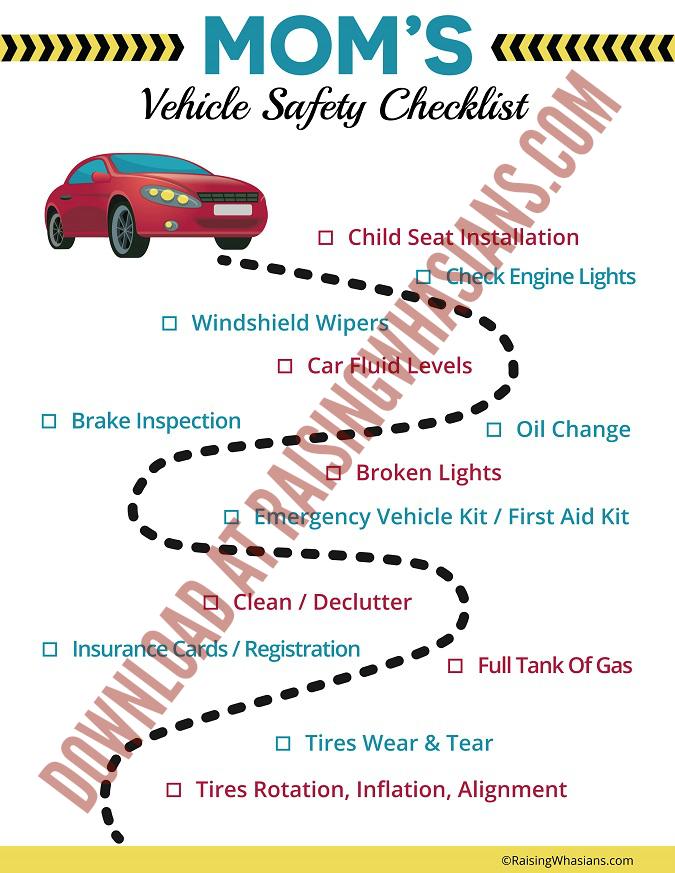 mom vehicle safety checklist