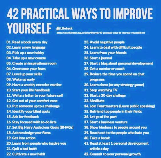 practical ways to improve yourself