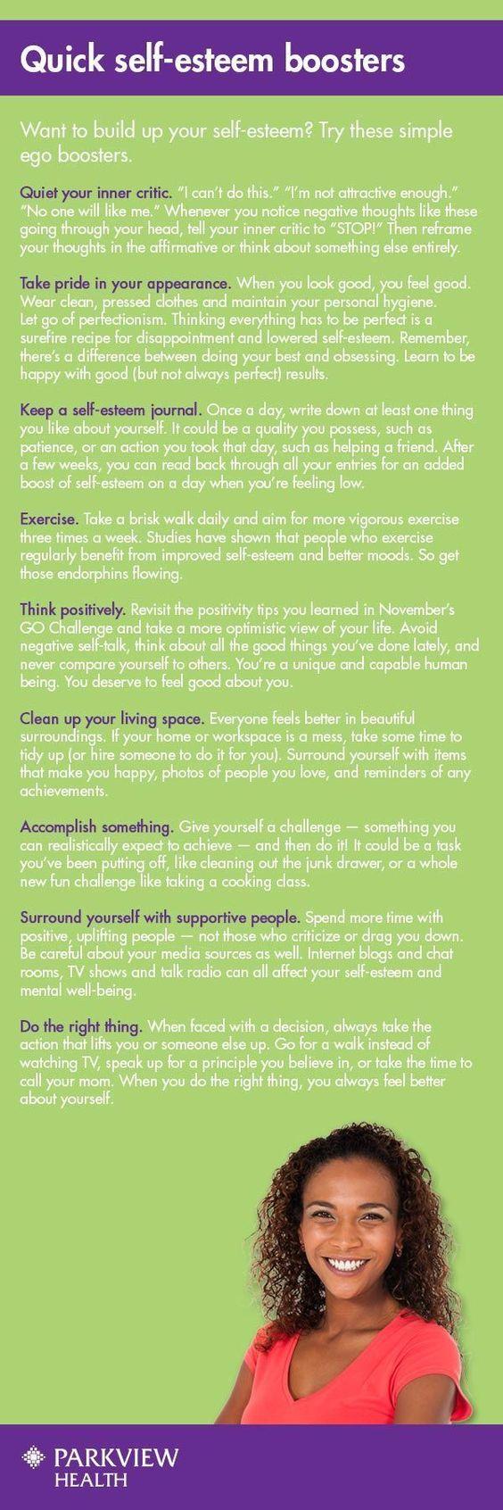 quick self esteem boosters