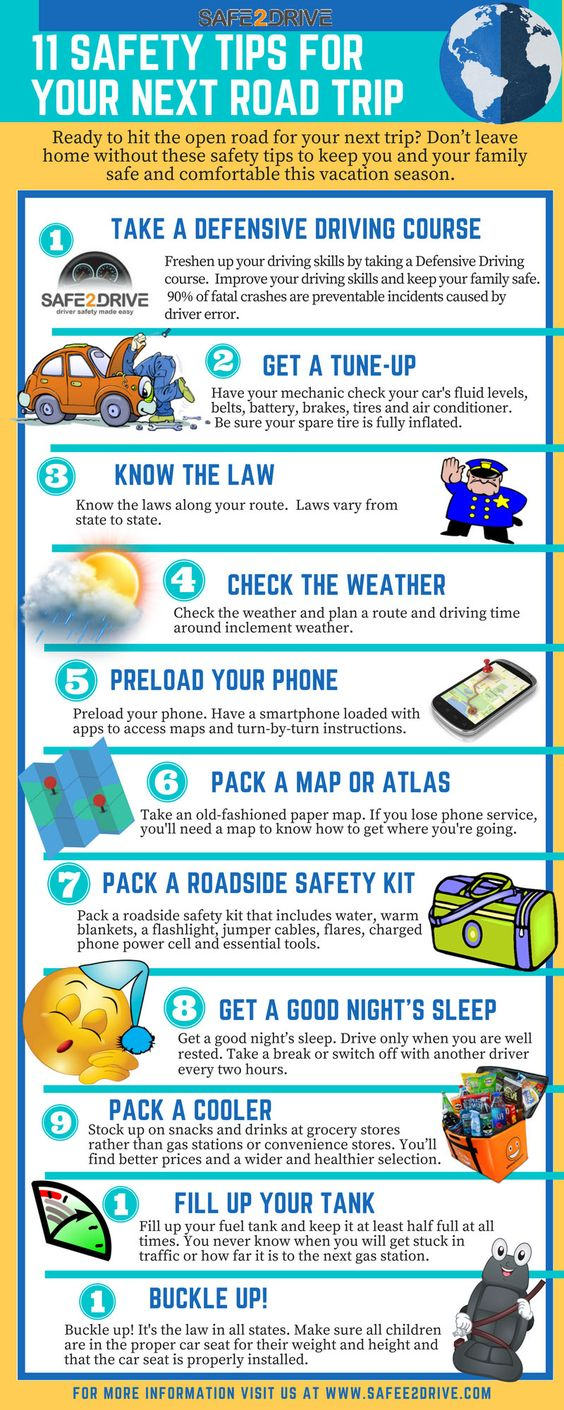 safety tips for your next road trip