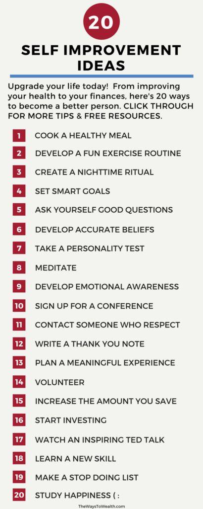 self improvement ideas