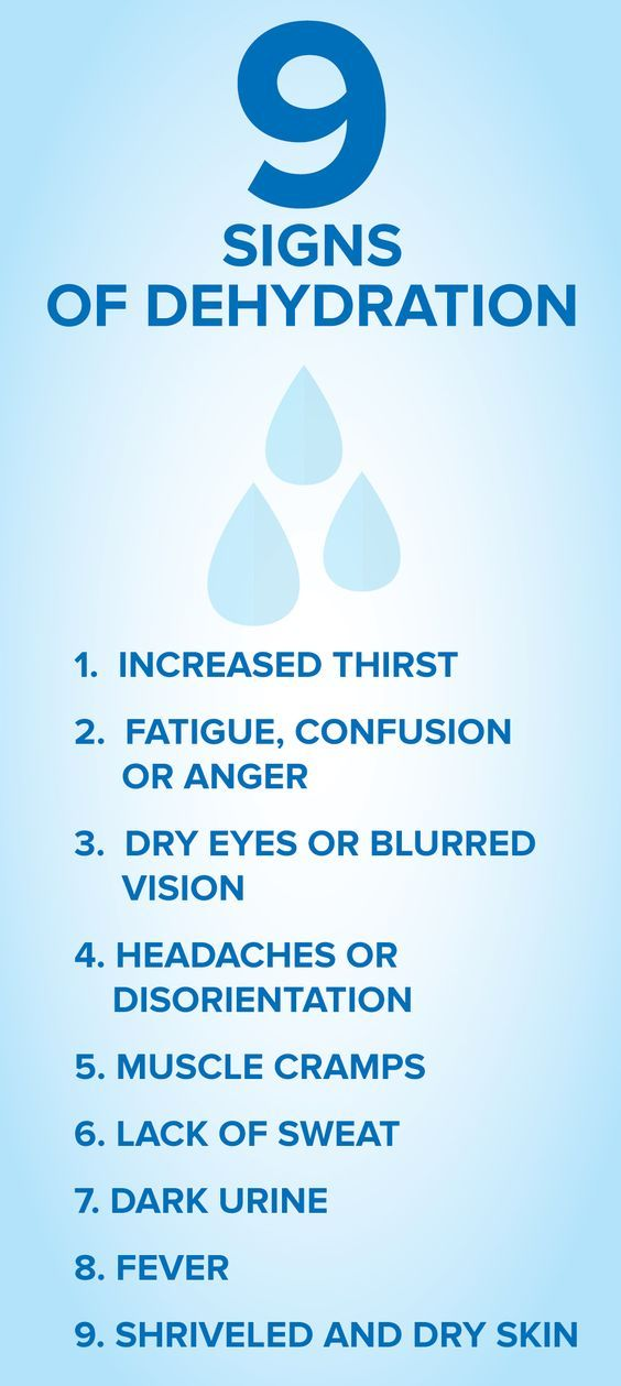 9 signs of dehydration