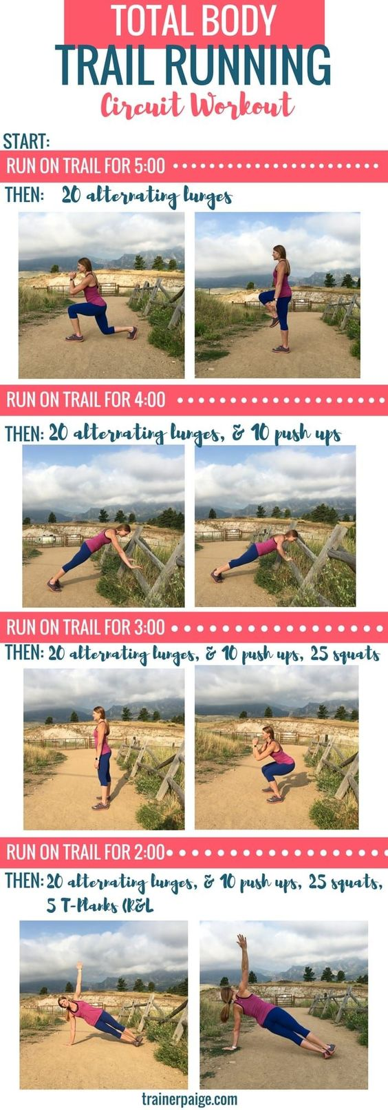 total body trail running circuit workout