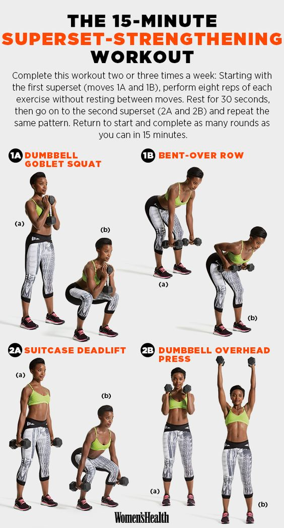 15-minutes superset - strengthening workout strength training for women