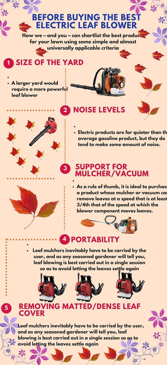 Before buying the best electric leaf blower