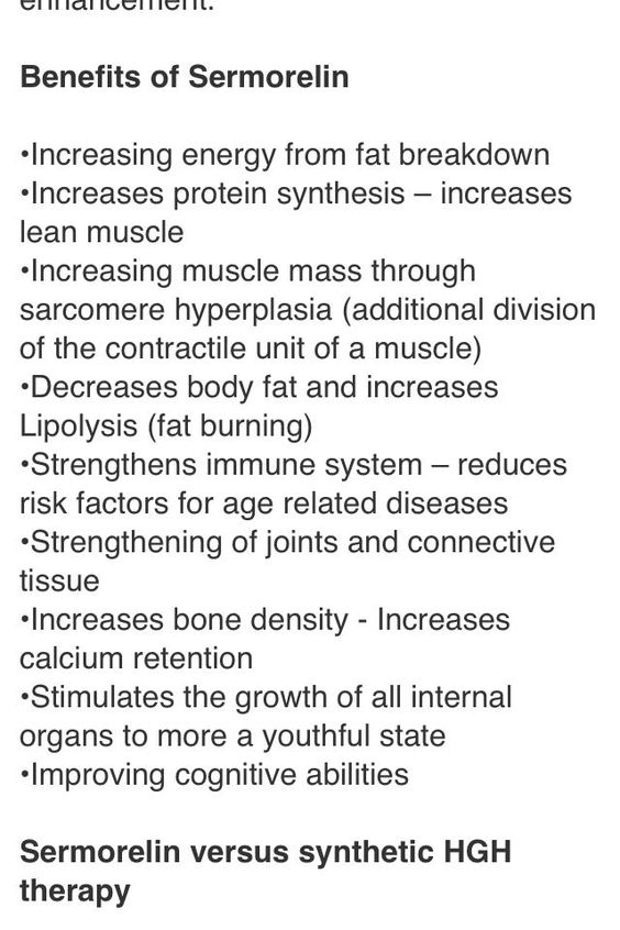 Benefits of Sermorelin