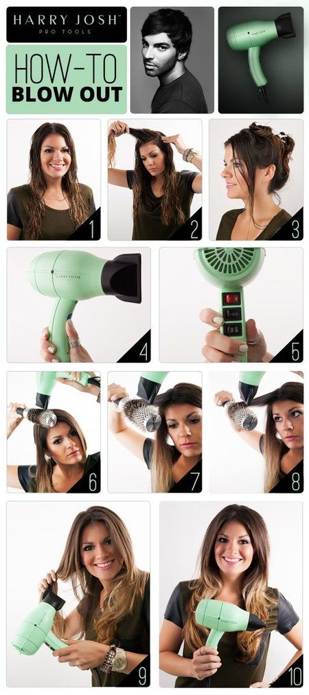 Hair style with blow dryer 2