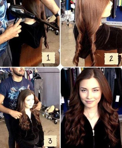 Hair style with blow dryer 3