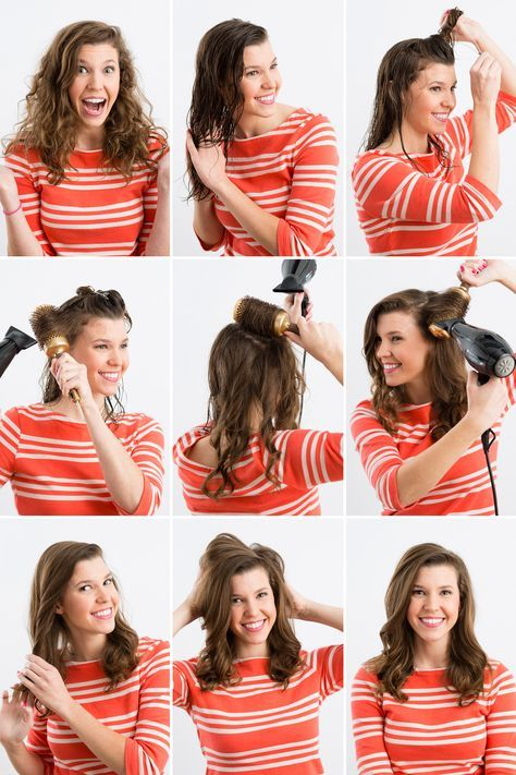 Hair style with blow dryer