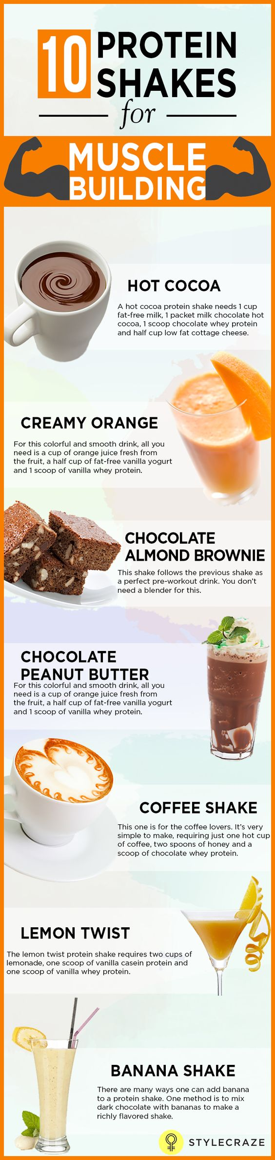 Protein shakes for muscle building