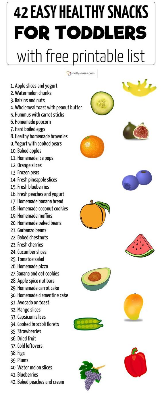 easy healthy snacks for toddlers