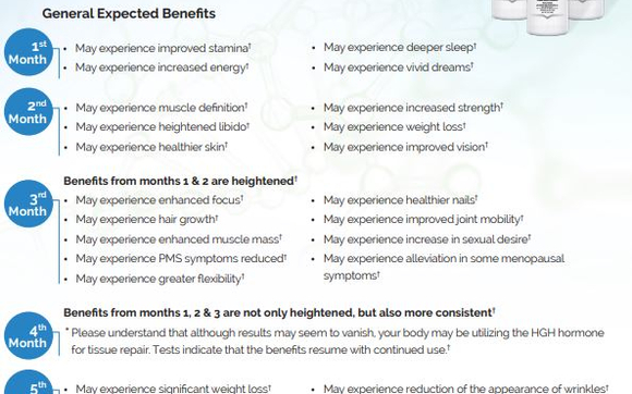 general expected benefits of HGH therapy