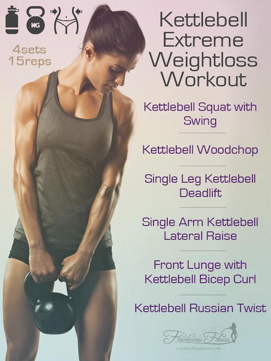 kettlebell extreme weightloss workout for women