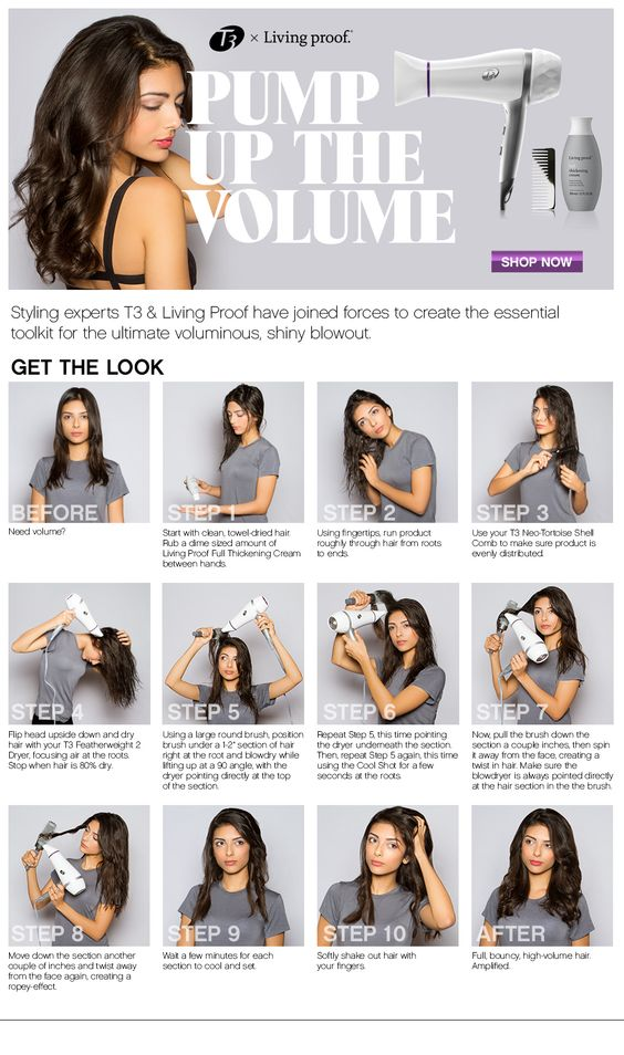 pump up the volume with blow dryer