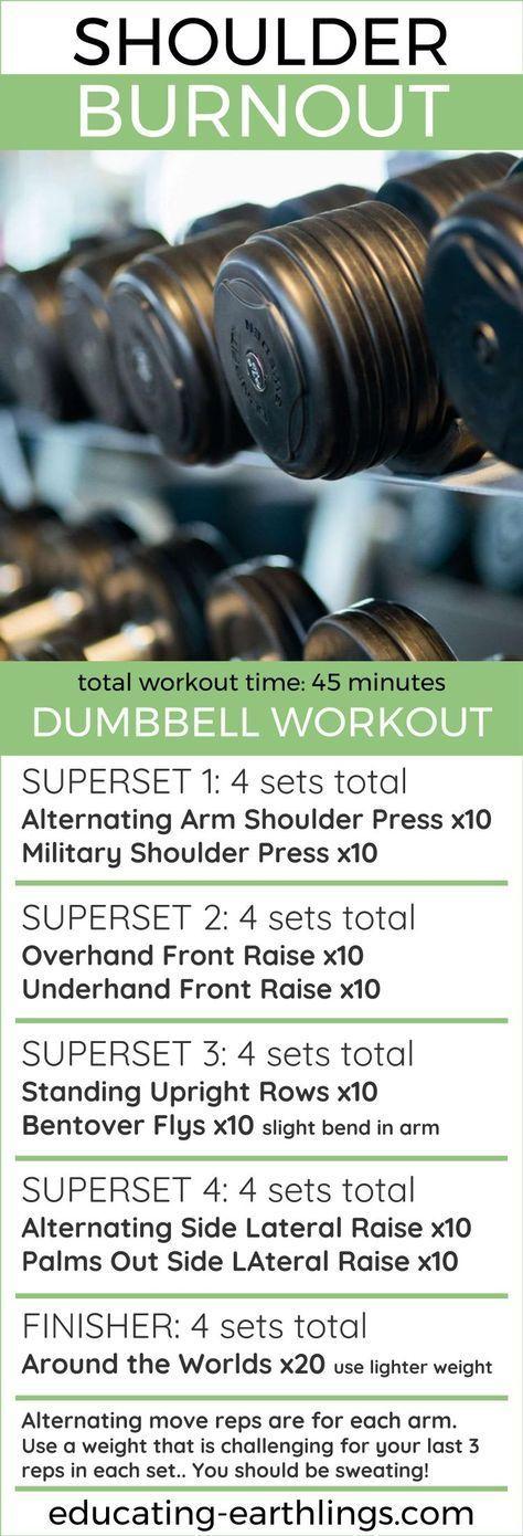 shoulder burnout dumbbell workout strength training for women