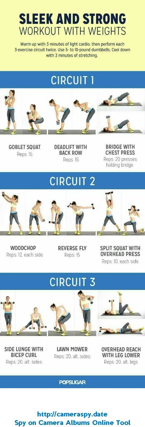 sleek and strong workout with weights strength training for women