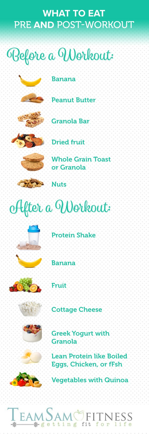 what to eat pre and post workout