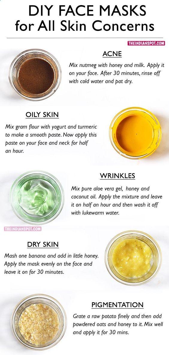 DIY Face masks for all skin concerns
