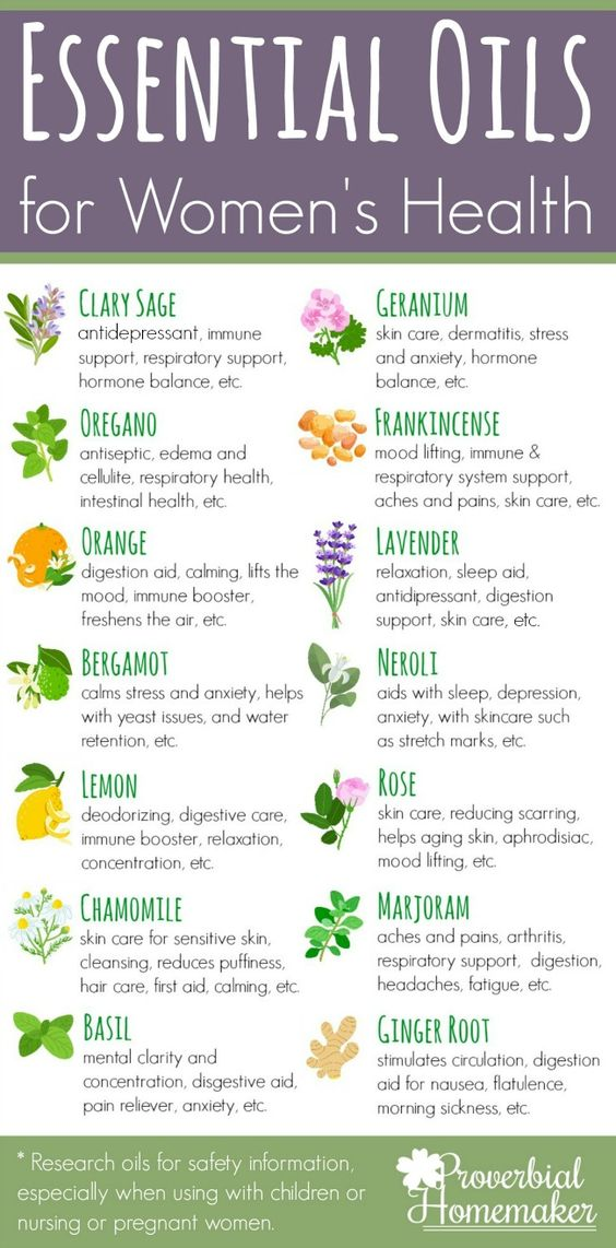 essential oil health benefits for women