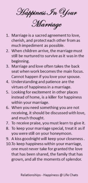happiness in your marriage