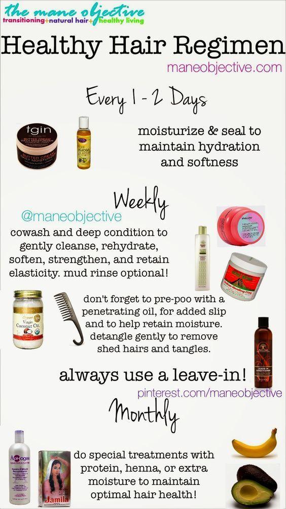 healthy hair regime