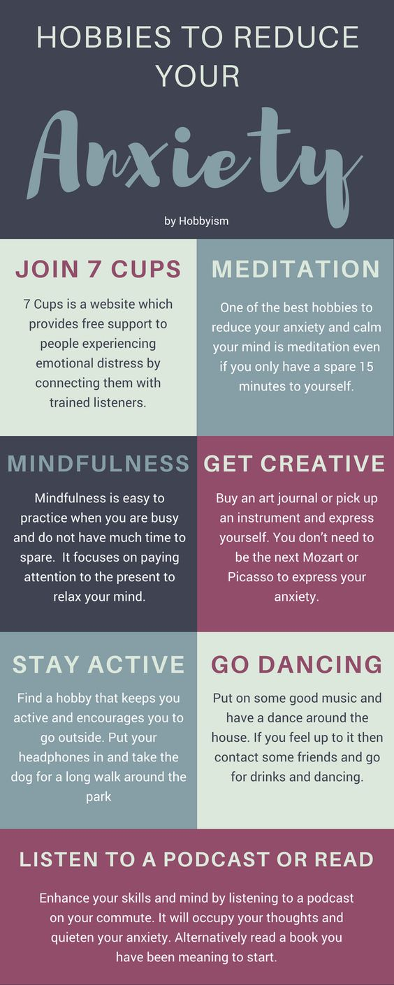 hobbies to reduce your anxiety