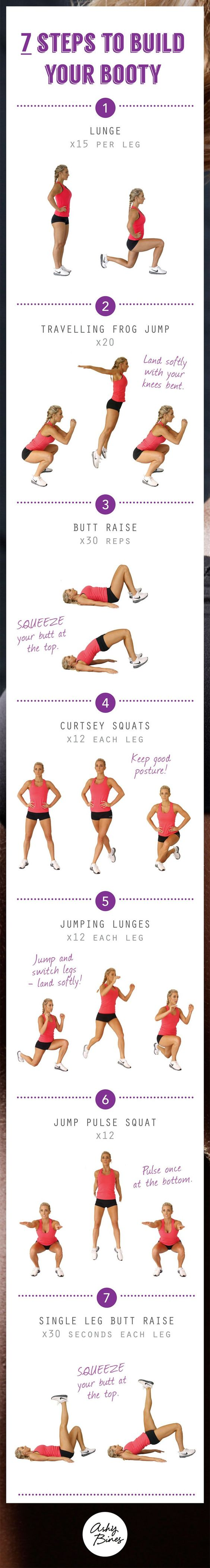 steps to build your booty