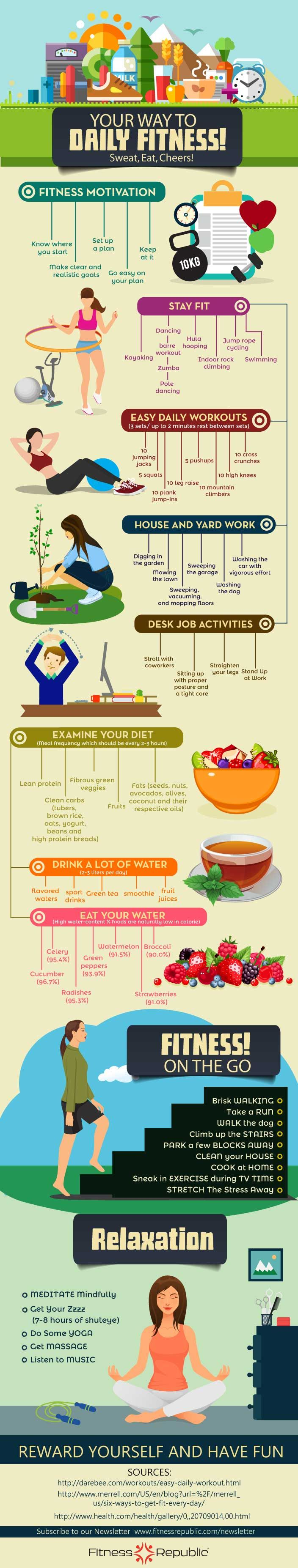 your ways to daily fitness