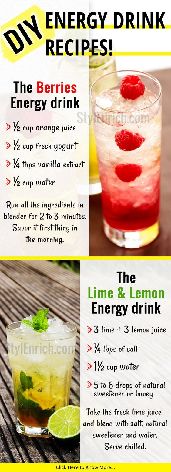 Energy Drink Recipes