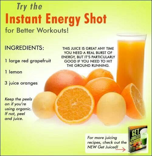 Instant energy shots