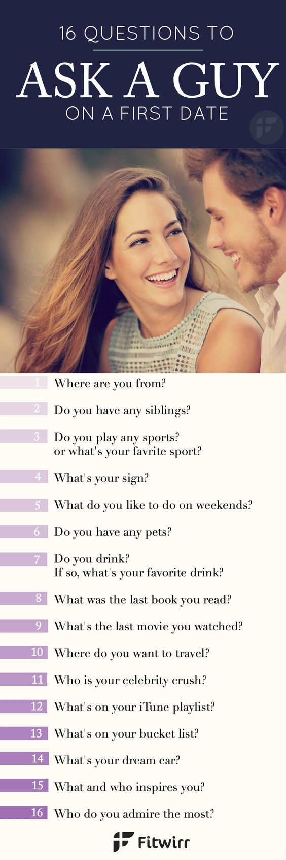 Questions to ask a guy on a first date